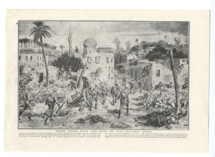 1918 WW1 Print TROOPS ENTER GAZA Edmund Allenby Advance BATTLE Palestine War (28